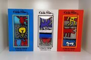 Keith Haring Socks 3 Pack Crew Sock Size 10-13 3 Boxes - 9 Pairs Of Socks
