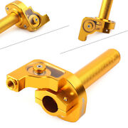 7/8and039and039 Handlebar Hand Grip Twist Throttle Accelerator Universal Gold Motorcycle
