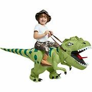 Inflatable Dinosaur Costume Riding T Rex Air Blow Up Funny Fancy Dress 4-6 Yrs