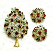 Rare Set Christmas Tree, Sphinx England 60s, New Year, Book Piece, Brooch Clips
