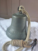 Mears London Antique 19th Century Cast Bronze Whitechapell Hand Bell
