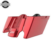 Wicked Red Stretched Saddlebags Extended Bag Rear Fender Fits 14+ Harley Touring
