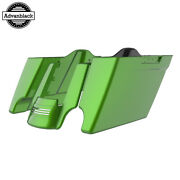 Radioactive Green Stretched Saddlebags Extended Bag Rear Fender Fits 14+ Harley