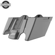 Charcoal Pearl Stretched Saddlebags Extended Bag Rear Fender Fits 14+ Harley