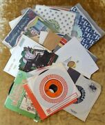 Lot Of 25 7 45rpm Vinyl Records Various Artists/genres Please See Pictures 031