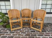 Bamboo Stools Vintage Barstools Rattan Bentwood Pencil Reed Boho Counter Height