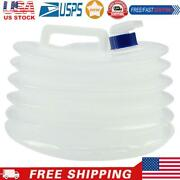 15l Collapsible Water Container Outdoor Water Carrier Storage Jug W/ Spigot
