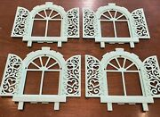 Vintage 1986 Hasbro My Little Pony Paradise Estate Replacement Windows Lot Of 4