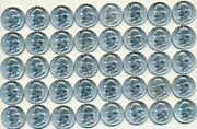 1958-p Roll Of 40 Washington Silver Quarters-brilliant Uncirculated-free S/h
