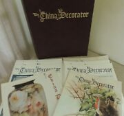8 China Decorator Magazines And Leatherette Binder From 1969-1980 Nice Condition