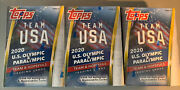 Topps Team Usa 2020 Olympic And Paralympic Hopefuls Blaster Box Sealed Lot Of 3