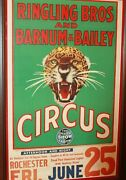 Ringling Bros And Barnum And Bailey Circus Poster Rochester 1930 Original Vintage