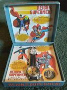 1993 Superman Fossil Watch Reign Of The Supermen W/original Box And Ltd Ed. Coin