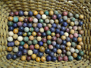 146 Antique Vintage Clay Marbles Hand Made In New Haven Connecticut Never Used