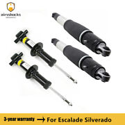 4pcs Front Rear Strut Shock Absorber For 08-14 Gm Escalade Chevy Tahoe Gmc Yukon