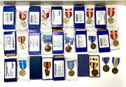 Us Medals Lot Usmc Army Navy Air Force Boxed Medal
