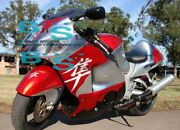 Red Silver Gsxr1300 Fairing With Tank Seat Fit Gsx-r1300 01 97-07 73 A6