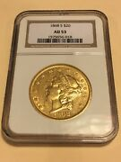 1868-s 20 Ngc Au53 Liberty Double Eagle Gold Coin Great Appeal Pq No Pcgs