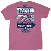 Itand039s A Girl Thing Faith Mountain Orchid Round Neck Cotton Short Sleeve T-shirts
