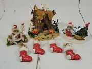 Fritz And Floyd Charming Tails Lot Of 7 Figurines And Ornaments Christmas Halloween