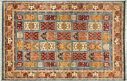 Afghan Ziegler Khorjin Carpet Hand Knotted 250x340 Colourful Edging Wool