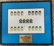 Beatles 1964 Framed Display Lot Of Stamps Limited Edition C 15 Of 400 Worldwide