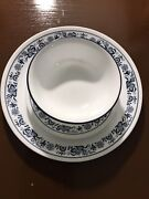 New In Box 18pc Corelle Old Town Blue Dinnerware Set Dinner Snack Plates Bowls