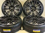 22 5x120 Wheels Rims Tires Fits Range Rover Cayenne Edition Supercharged Black