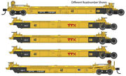 Walthers Mainline 910-55634 Ho 40' 5 Unit Rebuilt 40' Well Car Ttx 748410 New