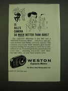 1955 Weston Exposure Meter Ad - Is Billand039s Camera So Much Better Than Ours