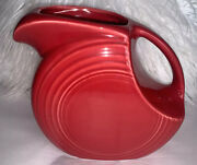 Fiestaware Red Large Disc Pitcher Fiesta Retired Red Water Pitcher 8x8x4