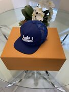 Louis Vuitton Everyday Lv Monogram Embroided Blue Mesh Cap Mp3125 Sz 58 Sold Out