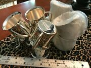 Silver Plate Cups Mugs Handled Punch Baby Child Engrave Shower Gift Craft Is Lot