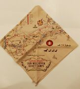 Bsa Ten Mile River Scout Camps Map Neckerchief Greater New York Council