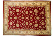 Afghan Chobi Ziegler Carpet Hand Knotted 260x350 Red Oriental Wool