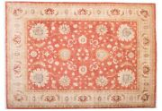 Afghan Ferahan Ziegler Luxury Carpet Hand Knotted 140x200 Beige Floral Pattern