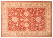 Afghan Ferahan Ziegler Luxury Carpet Hand Knotted 210x300 Red Floral Pattern