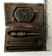 Ornate 3 Section Bronze Tattoo Needle And Tattoo Design Book Nat Angel Design