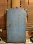Primitive Antique Early Best Robin Egg Blue Wall Cupboard Early