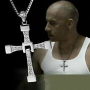 The Fast And Furious Dominic Toretto Steel Cross Pendant Necklace Free Shipping