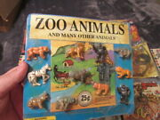 Vintage Coin Op 25 Cent Toy Machine Prize Card Dvs Liberty Zoo Animals Rare