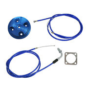 Blue Cnc Cylinder Head And Throttle Line For 80cc Engine Motorized Bicycle