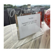 Personalised/non Personalised Our Wedding Day Small/large Picture Land Frames