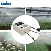 Water Mist Cooling System Irrigation Aeroponics 100pcs Nozzle Brass Outdoor 24v