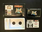 Nintendo Game And Watch Pinball Pb-59 With Box Tray And Manual Cleaned And Working