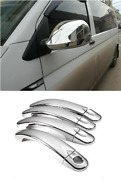 Vw T5 Transporter 2010-2015 Chrome Full Mirror Cover And Door Handle Cover S.steel