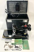 Vintage Singer Centennial 221 Featherweight Sewing Machine Fully Serviced Tested