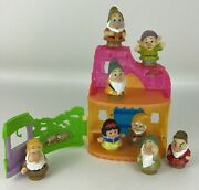 Snow White And The Seven Dwarfs Fisher Price Little People Playset Figures Lot