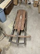 Antique Flexible Flyer Sled No 50 64 Used Steel Frame Collectors Item