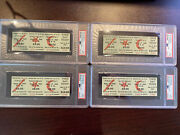 Four Consecutive Woodstock Music And Art Fair 3-day Full Tickets Psa 10 Gem Mint